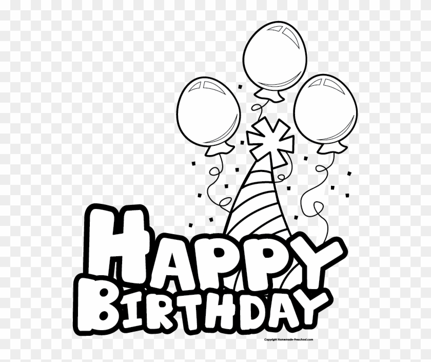 Free Download Happy Birthday Black And White Images Free Vectorhappy