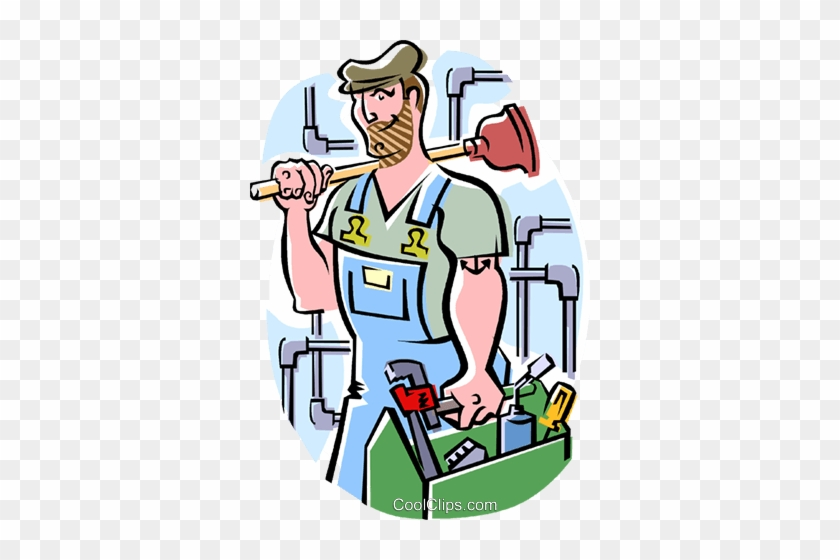 plumber royalty free vector