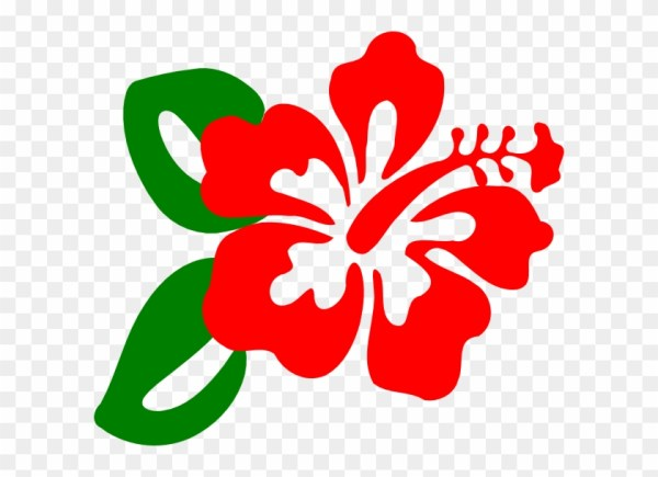 hawaii clipart red hibiscus - clip
