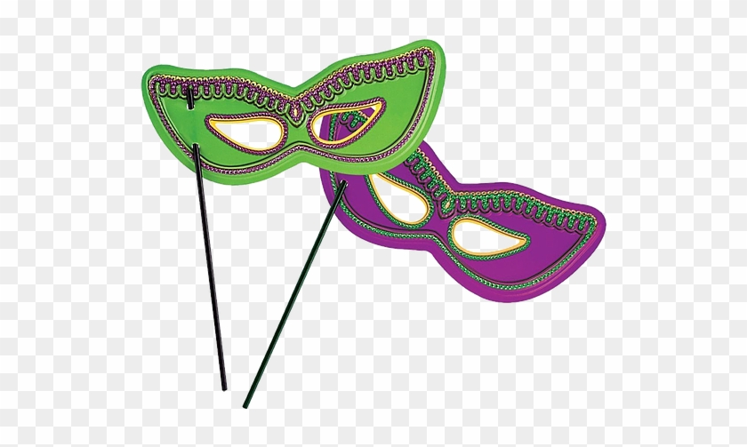 Mardi Gras Ball Schedule Mardi Gras Mask On Stick Free Transparent Png Clipart Images Download
