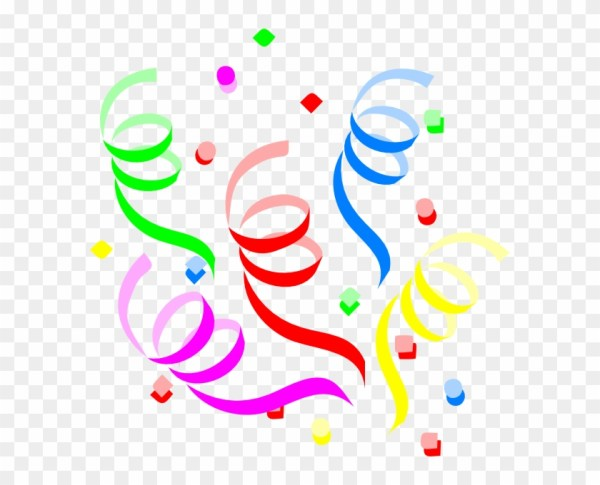 streamers and confetti clipart