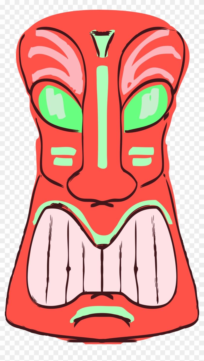 medium resolution of decoration face head luau mask totem tribal tiki clipart transparent