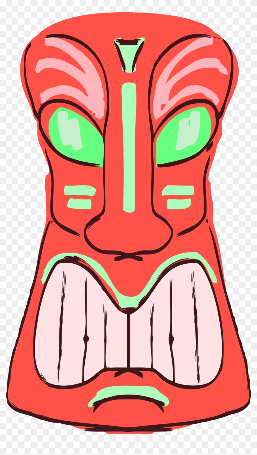 hight resolution of decoration face head luau mask totem tribal tiki clipart transparent