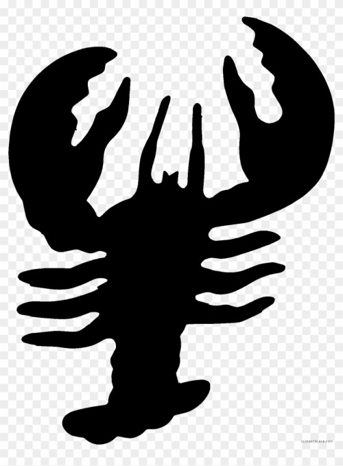small resolution of black and white lobster animal free black white clipart lobster clipart black 219627