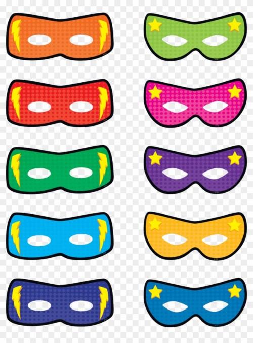 small resolution of superhero masks accents image free superhero bulletin board printables