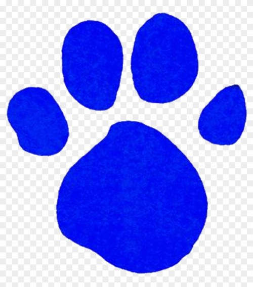 small resolution of comely blue paw print clip art medium size blue s clues gold clues 235530