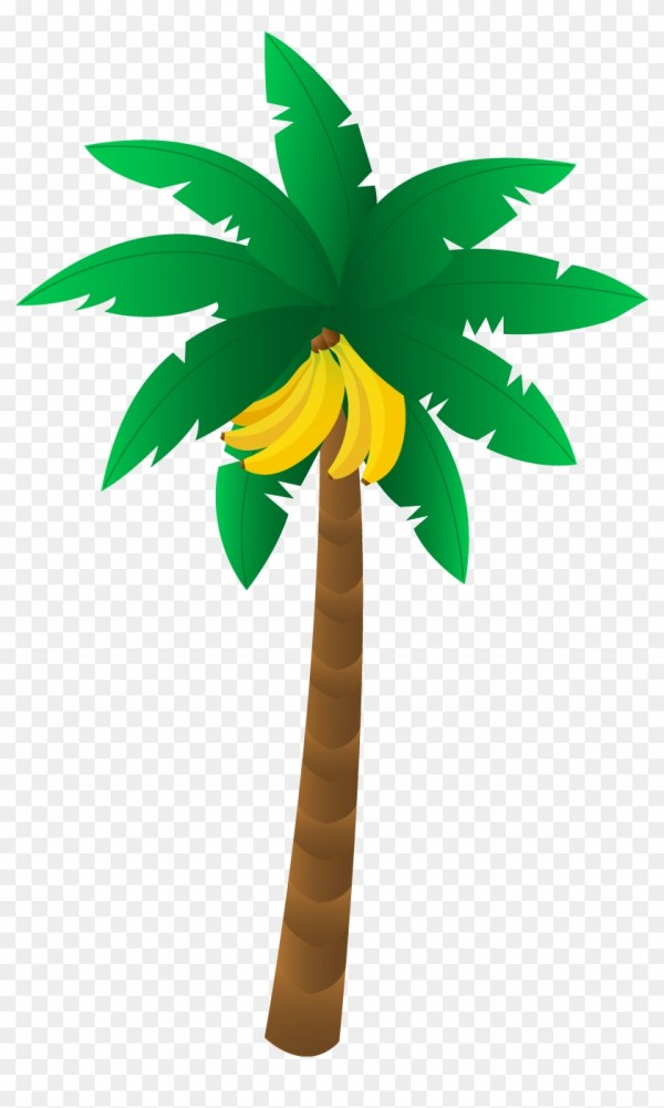 banana tree leaf outline clipart