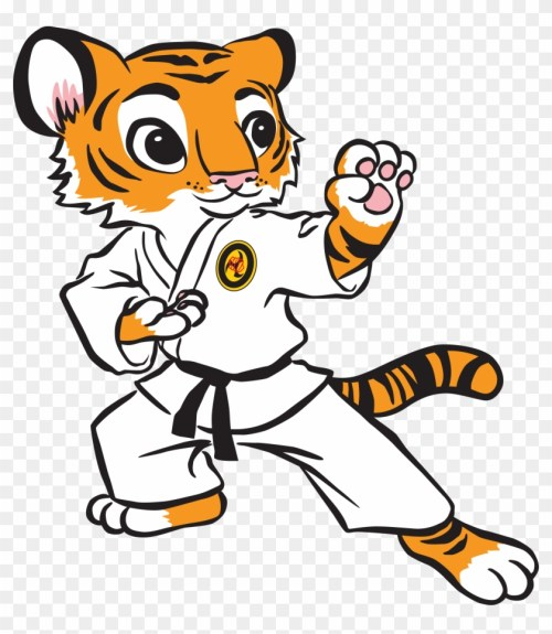 small resolution of karate tiger clipart clipart kid tiger karate 36629