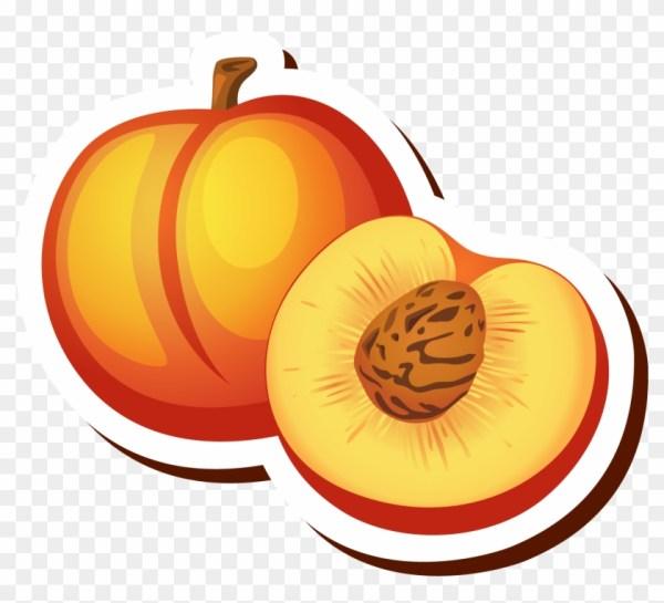 peach cartoon drawing clip art