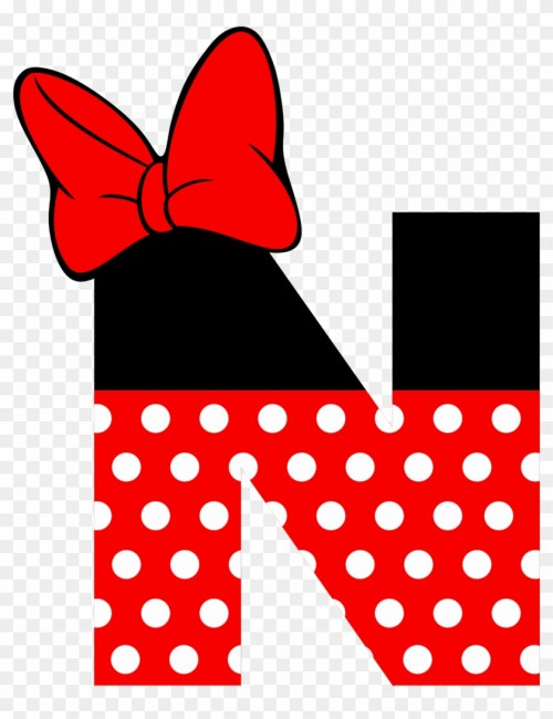 small resolution of print letters printable letters minnie mouse text minnie mouse letter n