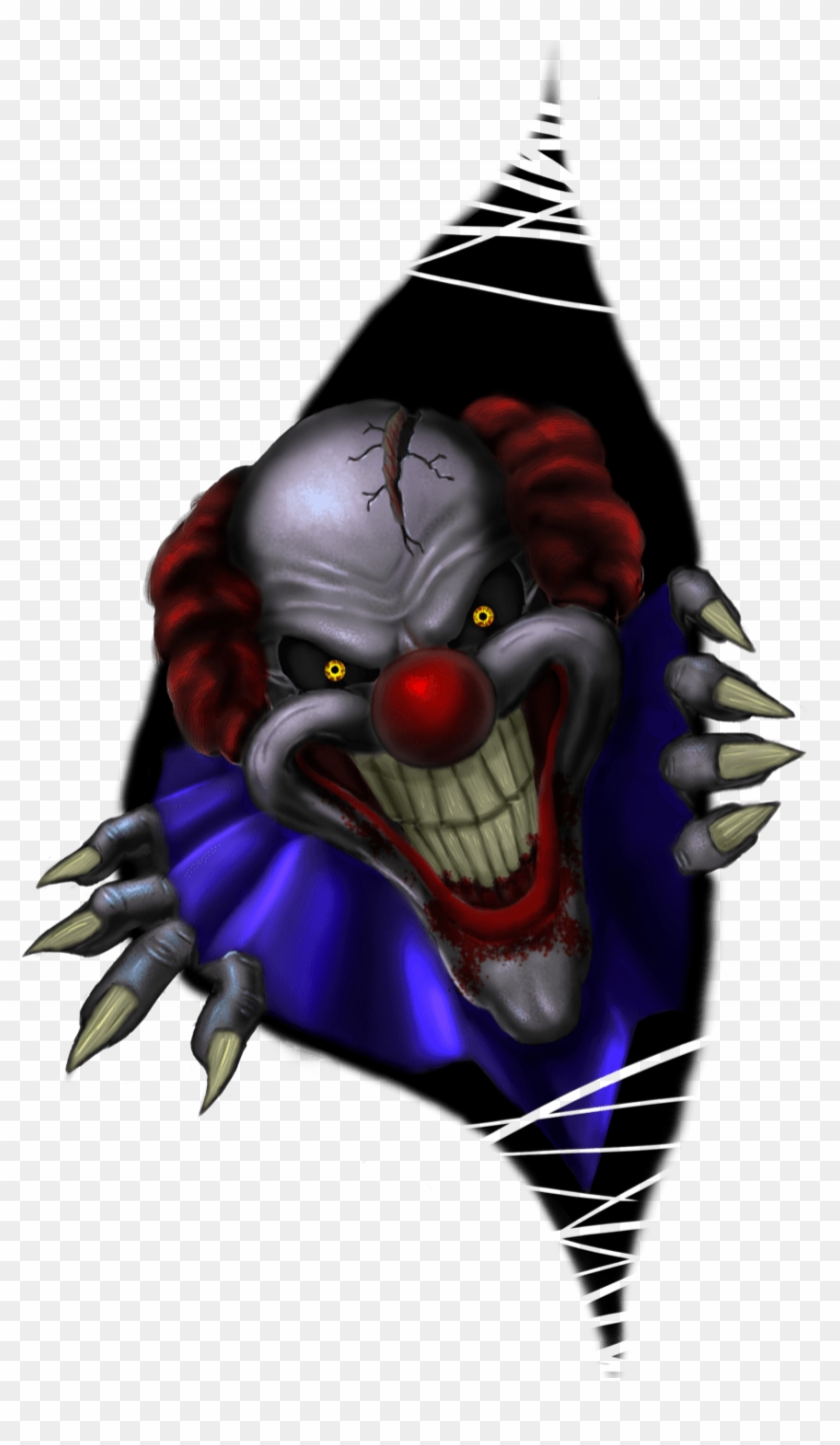 Scary Halloween Drawings Clown Free Transparent Png Clipart Images Download