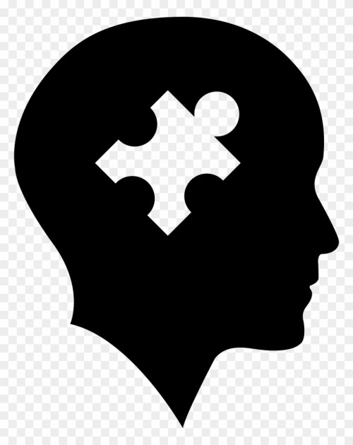 small resolution of bald head with puzzle piece vector puzzle piece in head