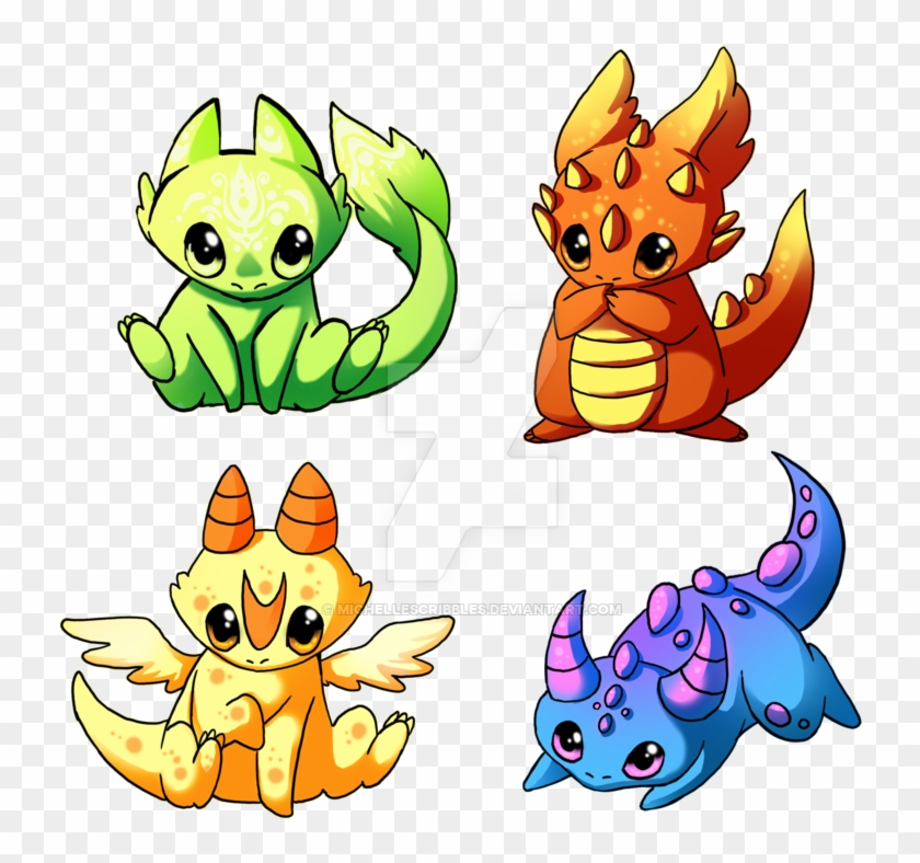 Pin By Danielle Kephart On Chibi Animals Cute Cute Baby Dragon Drawing Free Transparent Png Clipart Images Download