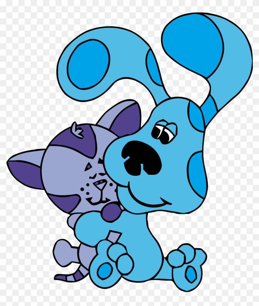 medium resolution of blue s clues clip art love cat clipart png blues clues blue and periwinkle 266190
