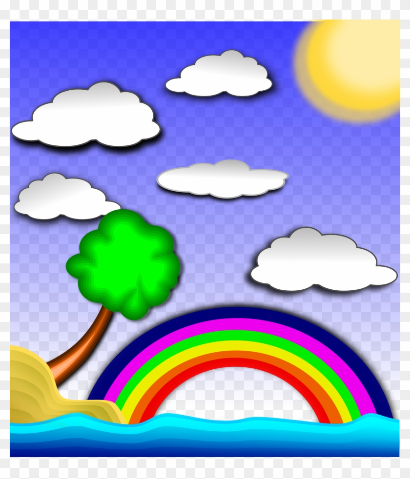 hight resolution of big image rainbow in the sky clipart 46772