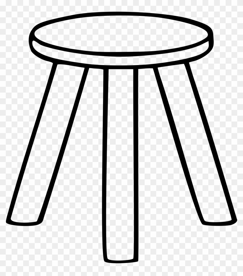 hight resolution of chair clip art black and white three legged stool clipart