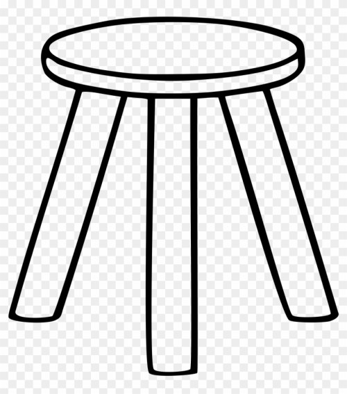 small resolution of chair clip art black and white three legged stool clipart