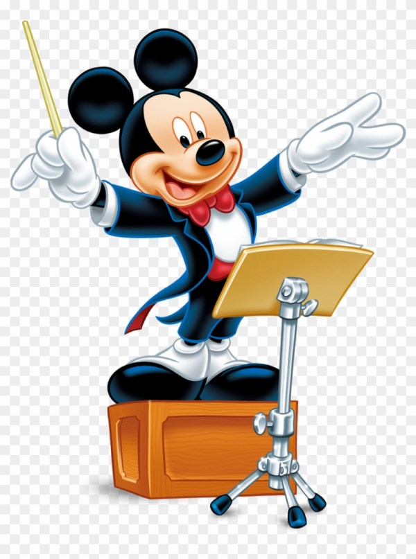 Mickey Mouse Minnie Conductor Walt Disney - With Music Free Transparent