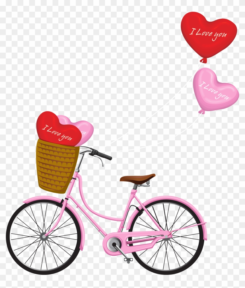 medium resolution of free romantic bicycle clip art free pretty things for you 840 985