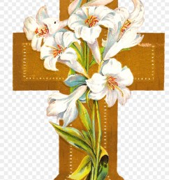 flowers crosses clip art cross with flowers png [ 840 x 1353 Pixel ]