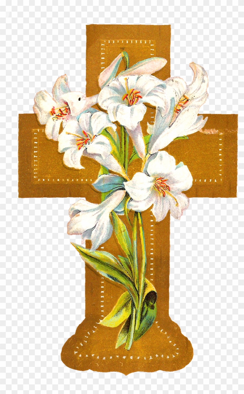 medium resolution of flowers crosses clip art cross with flowers png