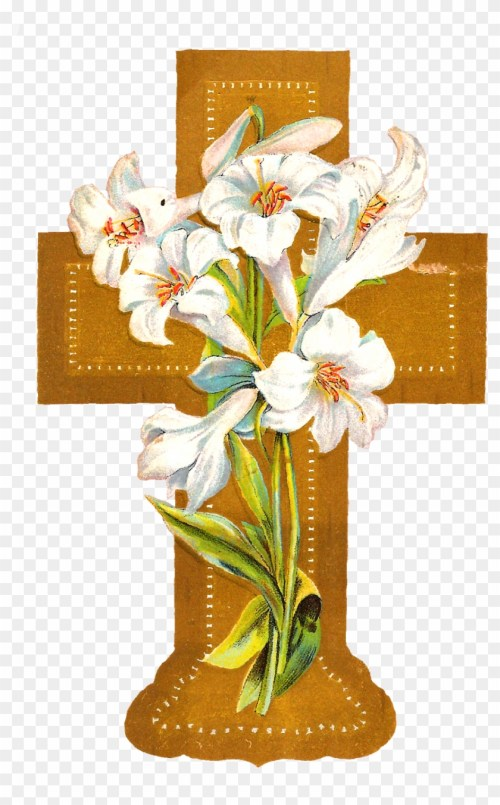 small resolution of flowers crosses clip art cross with flowers png