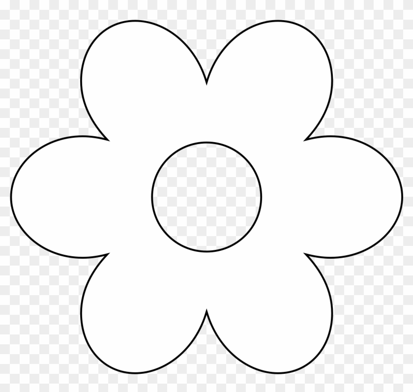 Floral Black And White Flower Clipart Image Flower Clip Art White Png Free Transparent Png Clipart Images Download
