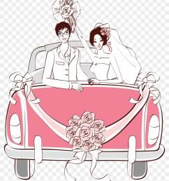 pink wedding car png clipart wedding car drawing [ 840 x 1031 Pixel ]