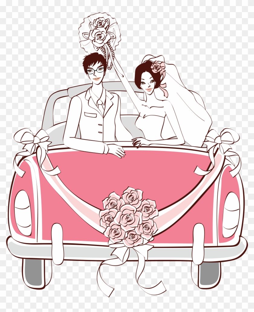 hight resolution of pink wedding car png clipart wedding car drawing