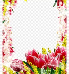 red yellow flower frame png flower frames png free hd [ 840 x 1228 Pixel ]