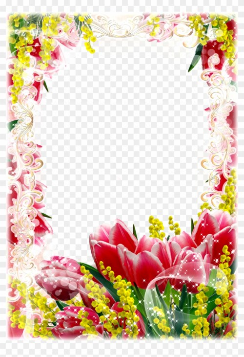 small resolution of red yellow flower frame png flower frames png free hd