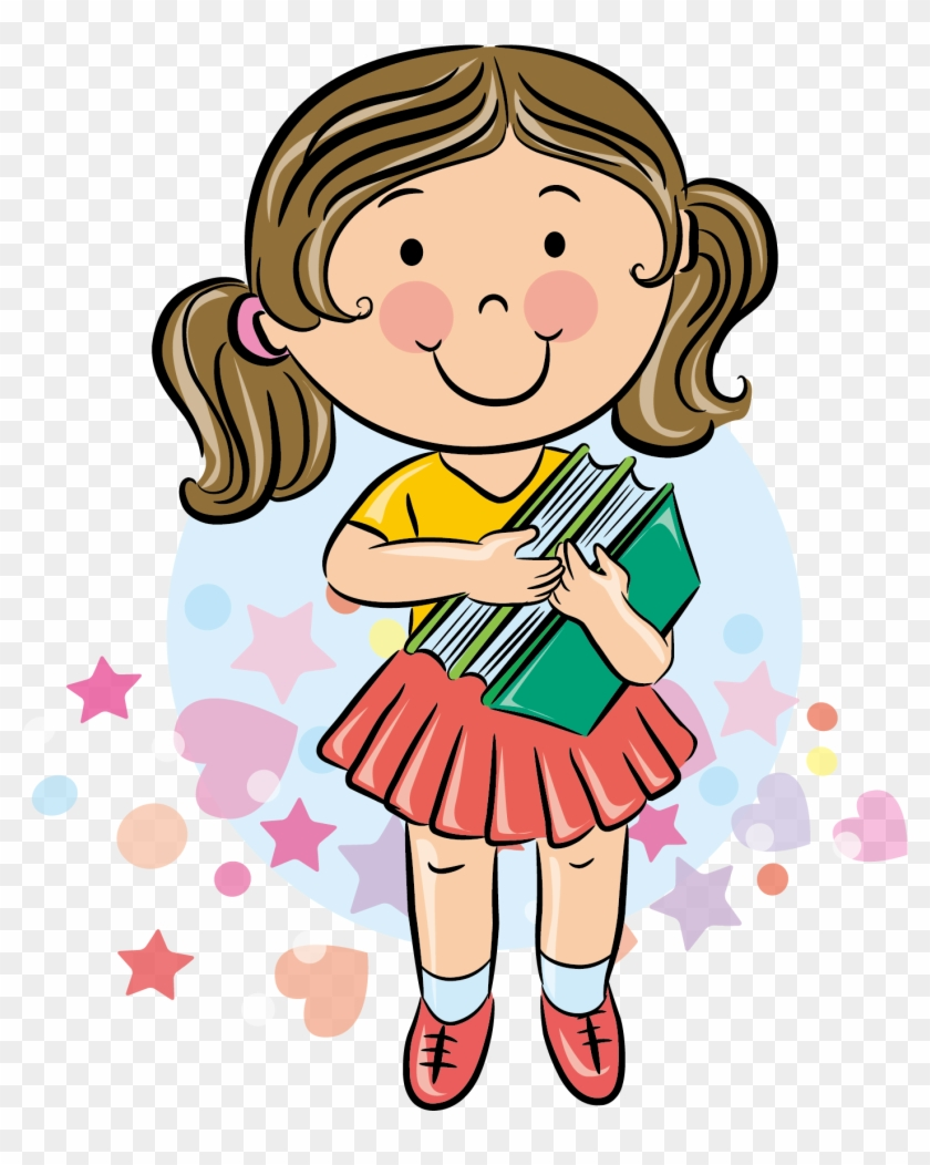hight resolution of student school cartoon girl student cartoon 353184