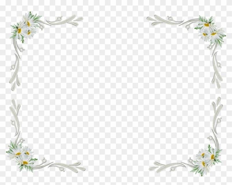 White Flowers Border Png Wajiflower Co