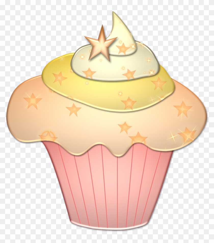 hight resolution of pink and gold cupcake clipart 367145