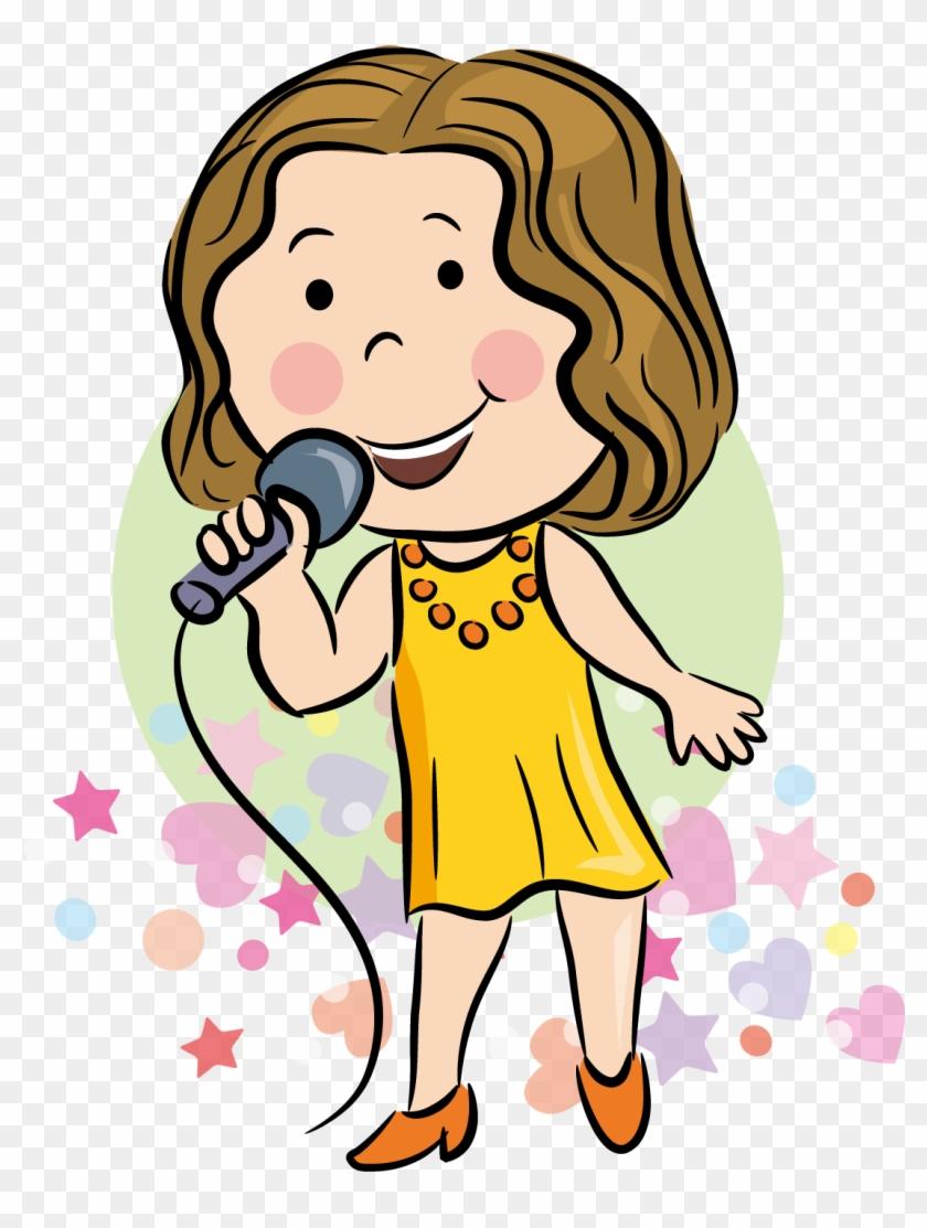hight resolution of singing singer cartoon 367447