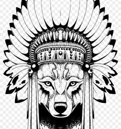 anastasiya avina wolf with indian headdress free transparent png png 840x1436 skull indian headdress clipart [ 840 x 1436 Pixel ]