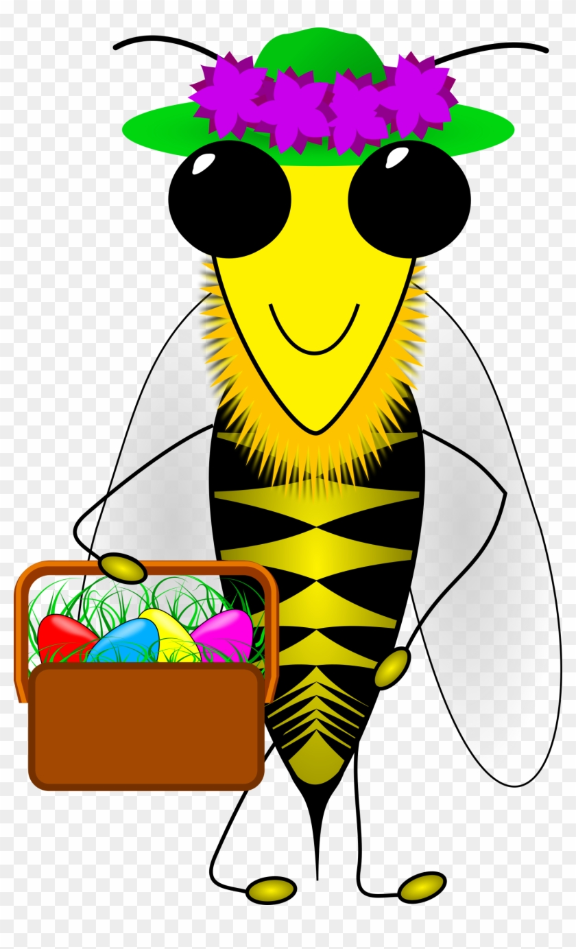 hight resolution of bee clipart easter happy easter bumble bee with a basket