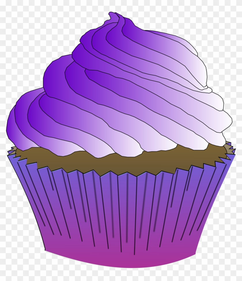 medium resolution of icing clipart chocolate muffin purple cupcake clipart 388273