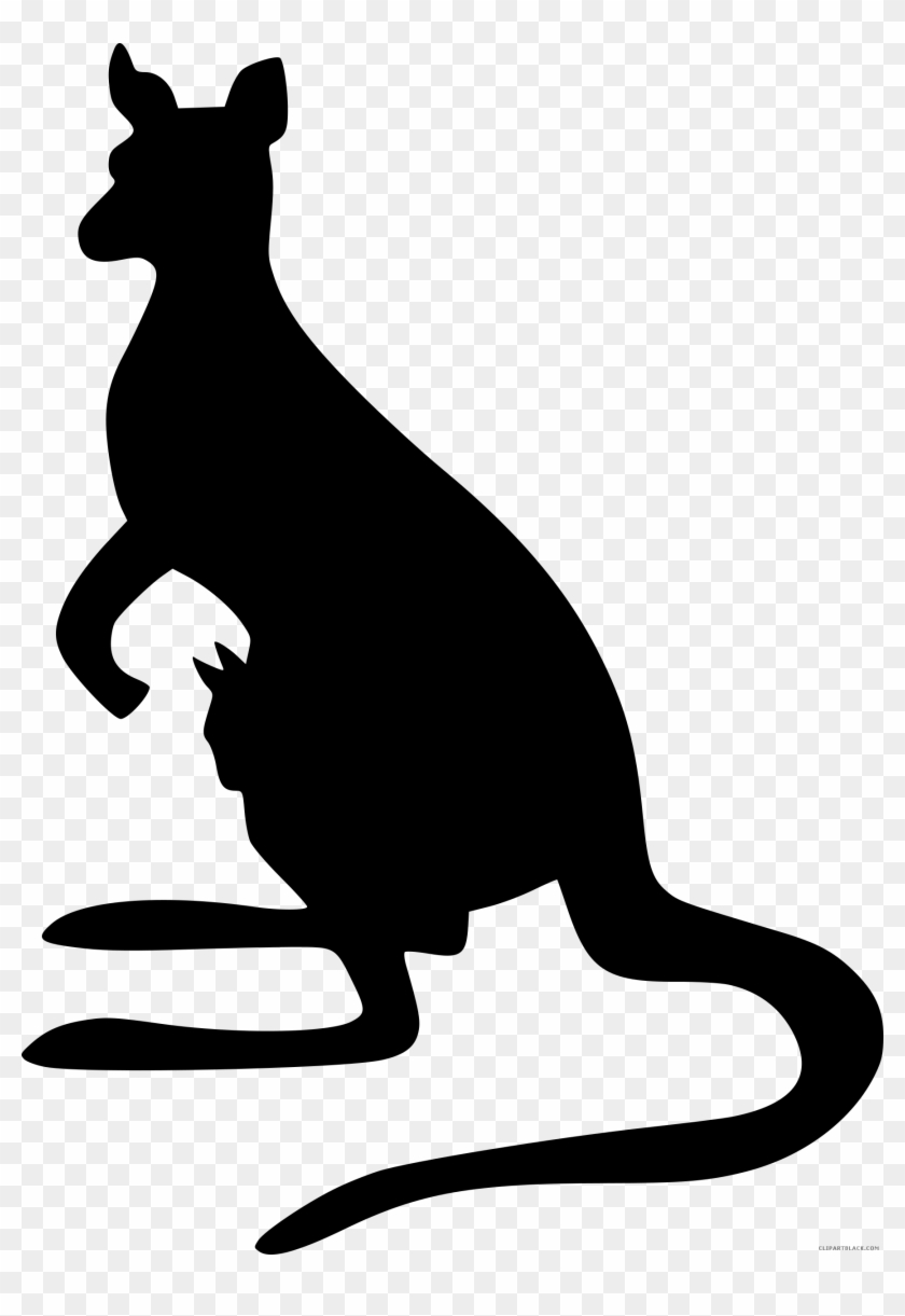 hight resolution of kangaroo silhouette animal free black white clipart kangaroo silhouette 398921