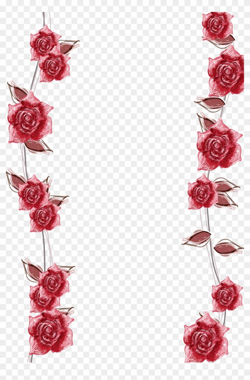 medium resolution of pink roses border background transparent background roses border 404425