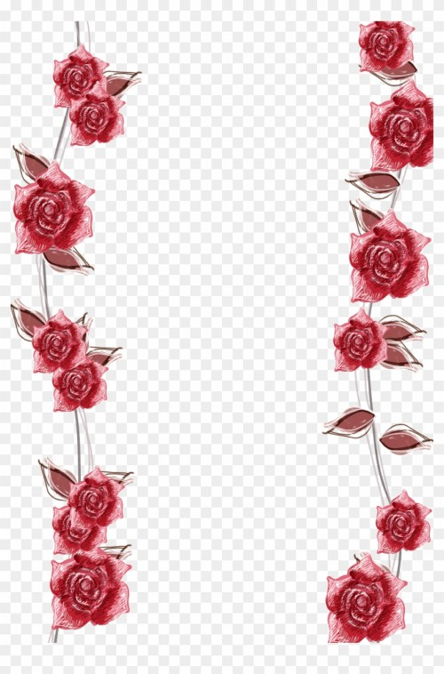 small resolution of pink roses border background transparent background roses border 404425