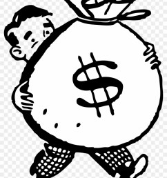 free retro clipart illustration of man carrying big money clipart 446953 [ 840 x 1119 Pixel ]