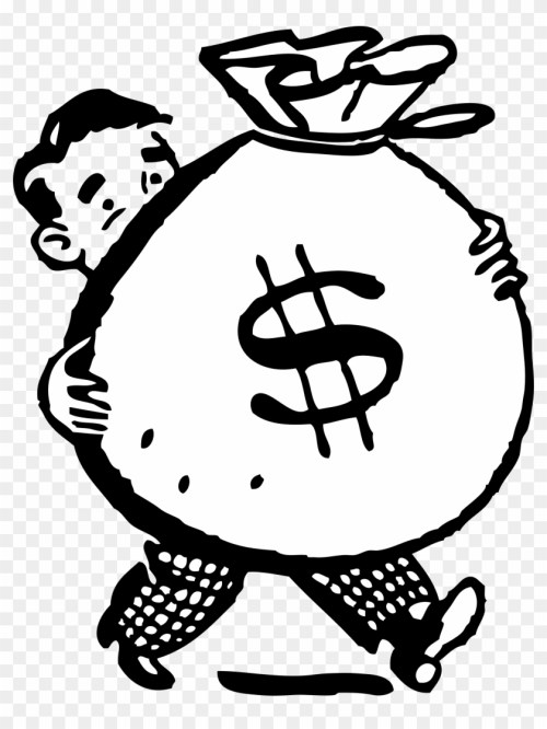 small resolution of free retro clipart illustration of man carrying big money clipart 446953