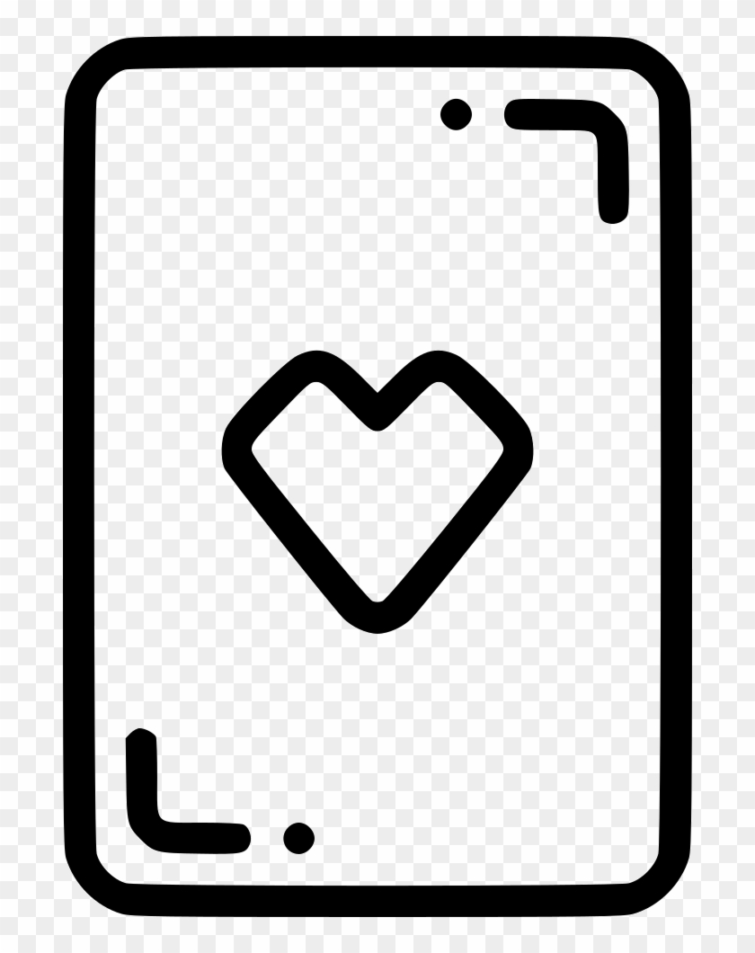 hight resolution of casino playing card heart gamble luck comments icon