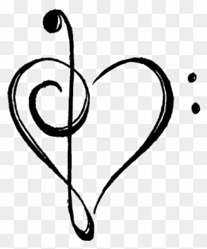 Music Notes Heart Clipart, Transparent PNG Clipart Images