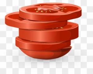tomato slice clip art vector