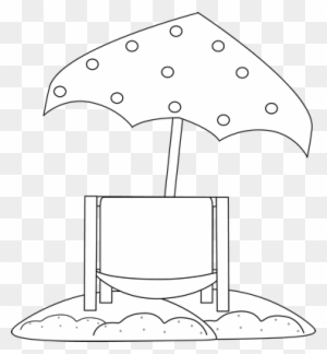 beach chair and umbrella clipart swing patio with chairs free png clip art image black white under
