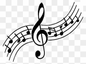 Music Notes Clipart Black And White, Transparent PNG