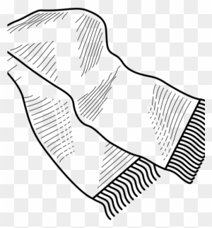Winter Scarf Royalty Free Vector Clip Art Illustration