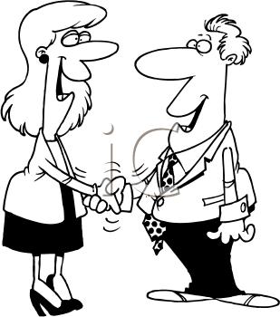 Royalty Free Handshake Clip art, Business Clipart